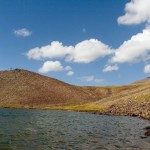 Lake Qari on the top of Mount Aragats