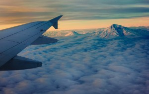 Mountains of Ararat from the airplane window