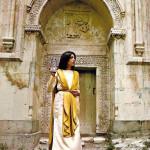 Traditional dress of Armenia woman  from Talin region