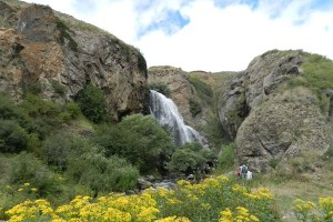 Trchkan waterfall Armenia