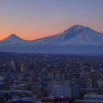 Yerevan with the backdrop of Mount Ararat