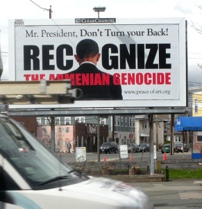 Armenian Genocide billboard