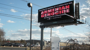 2013 Armenian Genocide commemorative billboards