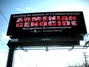 2013 Armenian Genocide commemorative billboards